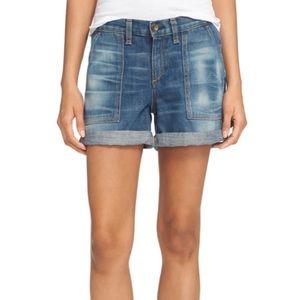 Rag & Bone Carpenter' Cuffed Denim Shorts Size 24